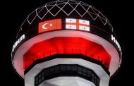 Ankara Ata Kule'de Gürcistan Bayrağı
