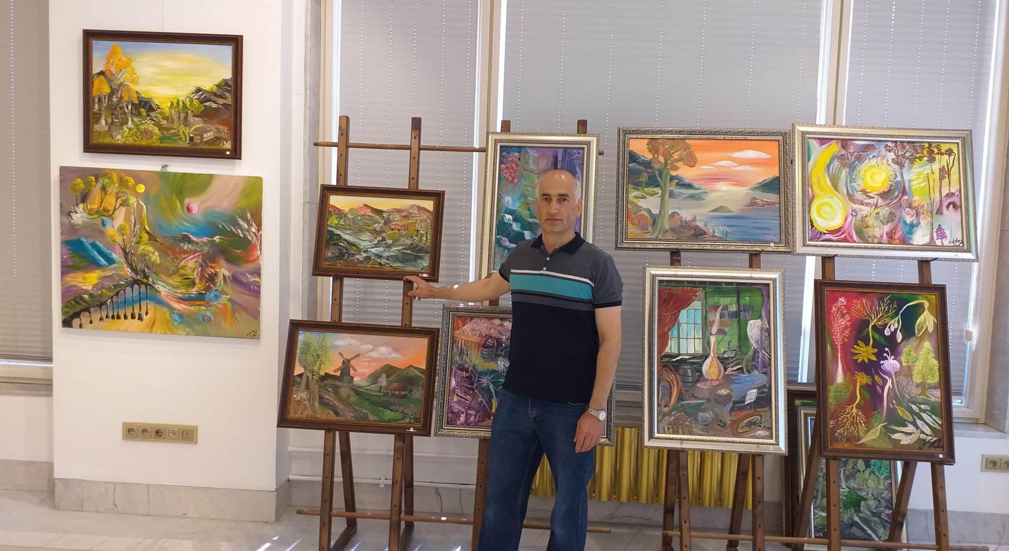Gürcü Ressam İsa Aktaş Bursa'da Sanat Severlerle Buluşuyor